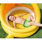 Intex Бебешки надуваем басейн със сенник Охлюв