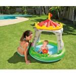 Intex Бебешки надуваем басейн със сенник Замък
