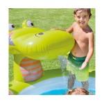 Intex Детски надуваем басейн с пръскалка Крокодил
