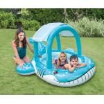 Intex Детски надуваем басейн със сенник Кит