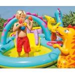 Intex надуваем център за игра с пързалка Динозаври