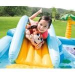 Intex Надуваем център за игра с пързалка Джунгла