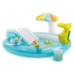 Intex Надуваем център за игра с пързалка Крокодил