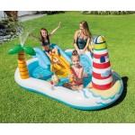 Intex Надуваем център за игра с пързалка Риболов