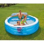 Intex Семеен надуваем басейн със седалка