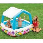 Intex Детски надуваем басейн със сенник