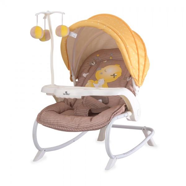 Шезлонг DREAM TIME Beige&Yellow My Baby
