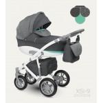 Бебешка количка Sirion Eco Графит/Веронез