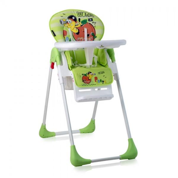 Столче за хранене TUTTI FRUTTI Green Worm