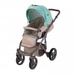 Lorelli Детска количка Rimini Beige&Green Dots