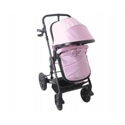 Бебешка количка Darling Pink Black Ribbon