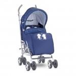 Детска количка Ida Dark Blue Happy Hippo