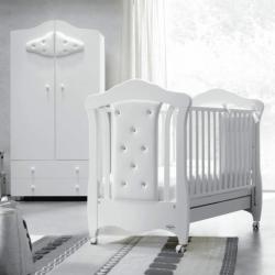 Бебешка кошара Baby Italia Mimi Pelle бяла