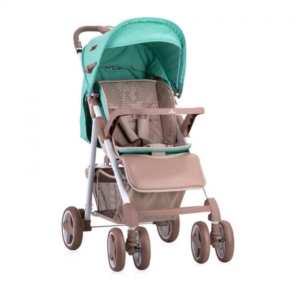 Детска количка Aero сет Beige&Green Dots