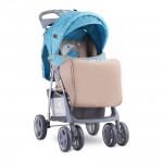 Детска количка Foxy Blue&Beige Moon Bear с покривало