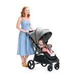 Бебешка количка KinderKraft Grande, Черна