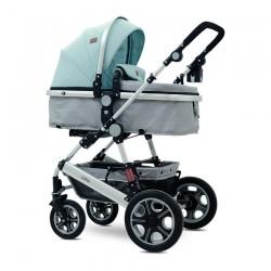 Детска количка Lora Set Green&Grey Birds