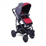 Детска количка Verso Black&Red