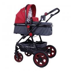 Детска количка Lora Black and Red