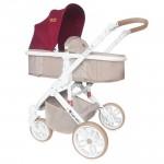 Бебешка количка Luna 2в1 Beige&Red