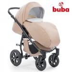 Buba Royal бебешка количка 3в1 бежов лен