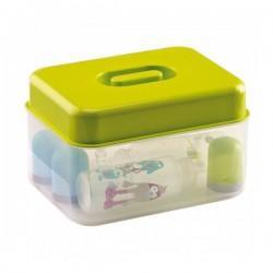 Стерилизатор за микровълнова и студена стерилизация зелен