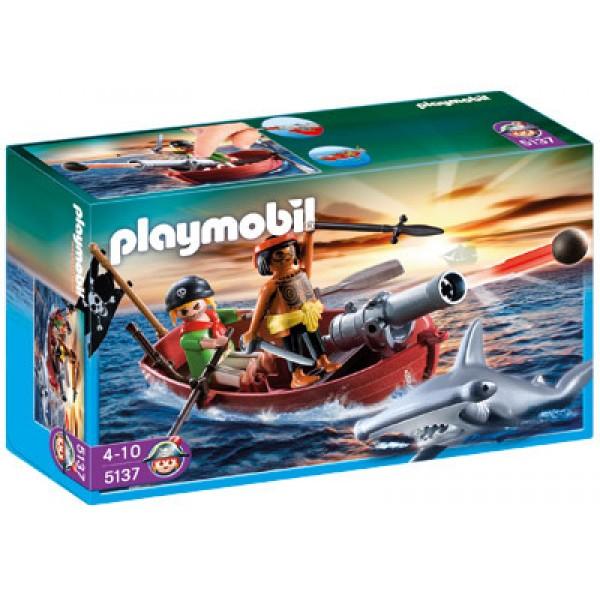 Плеймобил Пиратска лодка с акула