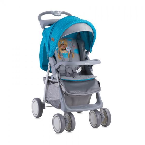 Бебешка количка Foxy Blue&Grey Hello Bear