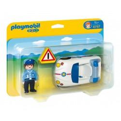Плеймобил полицай с полицейска кола