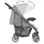 Детска количка Smarty Green&Grey Safari с покривало