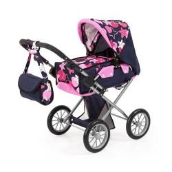 Bayer Детска количка за кукли с чанта и кош