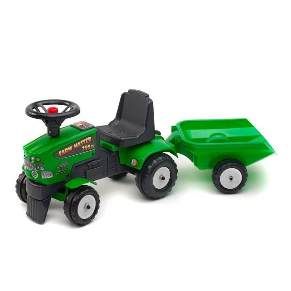 Фалк Трактор с ремарке зелен