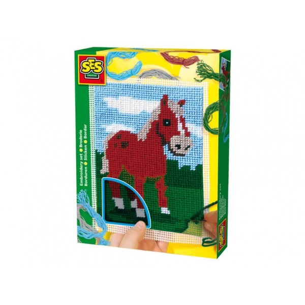 СЕС цветен кон