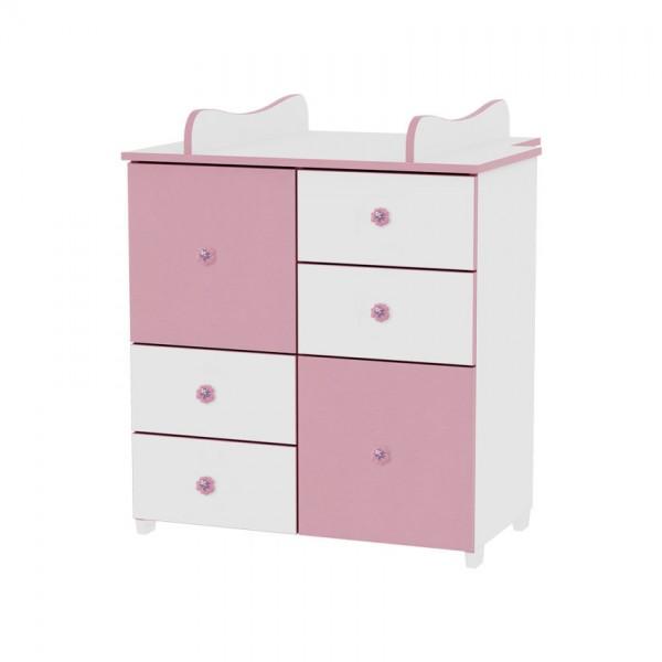 Шкаф бяло и розово