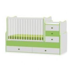 Легло Maxi Plus бяло и зелено