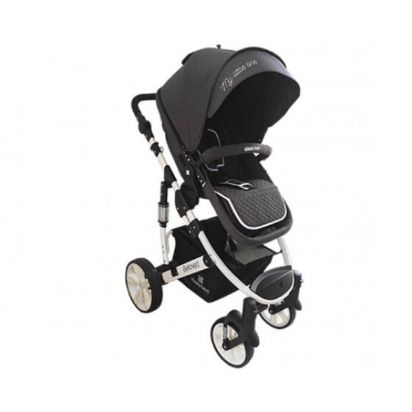 Бебешка количка Beloved 2в1 Dark Grey
