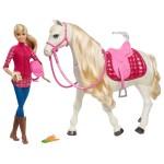 Кукла Barbie Интерактивен кон с движения и звуци