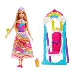 Кукла Barbie Принцеса с люлка - трон