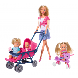 Simba Кукла Стефи с три бебета
