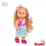 Simba Кукла Еви с машина за сладолед
