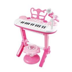 BaoliПиано със стол и микрофон и жак за MP3 2в1 Melody