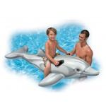 Надуваем делфин Интекс