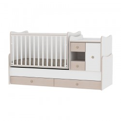 Легло MiniMAX бяло и дъб