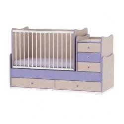 Легло Maxi Plus дъб и виолетово