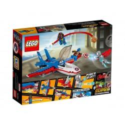 Лего Супер Хироус Капитан Америка реактивно преследване