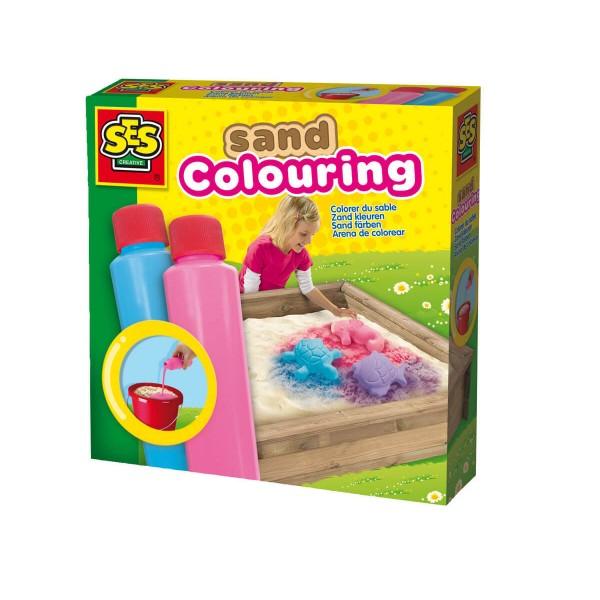 Сес Боя за оцветяване на пясък синя и розова