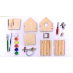 Beluga дървена къщичка за птици за оцветяване