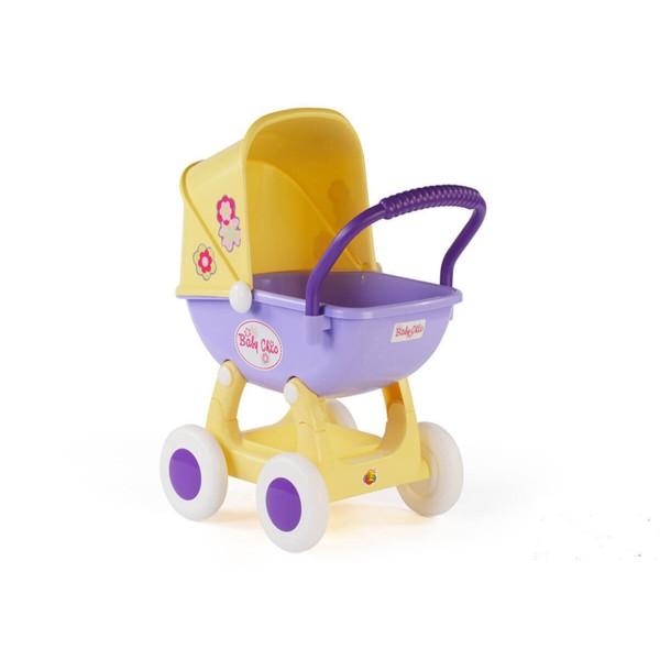 Количка за кукли Арина в жълто и лилаво