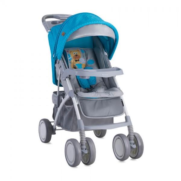 Бебешка количка Rio сет Blue&Grey Hello Bear