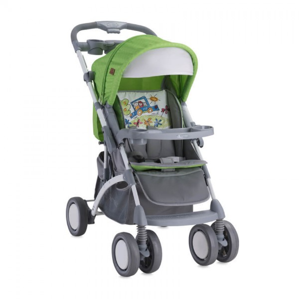 Детска количка Apollo сет Green&Grey Car